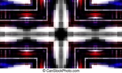 bleu, raies, faire boucle, fond, géométrique, animé, blanc rouge