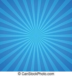 bleu, rayons, fond