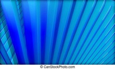 bleu, rayons
