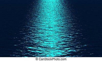 bleu, refléter, océan, lumière