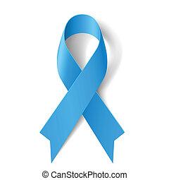 bleu, ribbon.