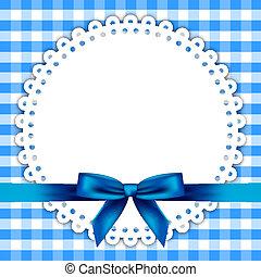 bleu, serviette, fond