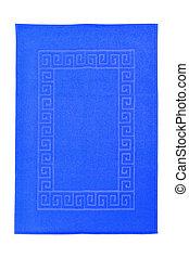 bleu, serviette