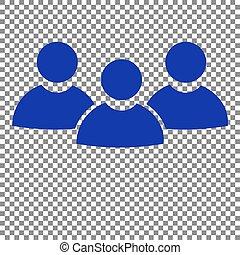 bleu, signe., travail, arrière-plan., équipe, transparent, icône