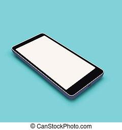 bleu, smartphone