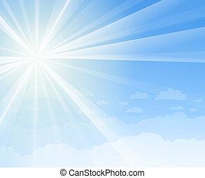 bleu, soleil, ciel