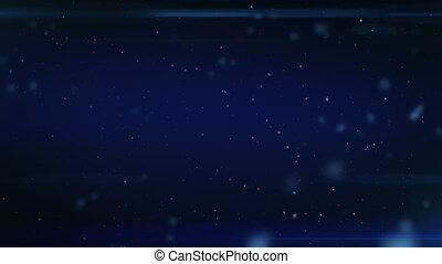bleu, sombre, poussière, fond, space.