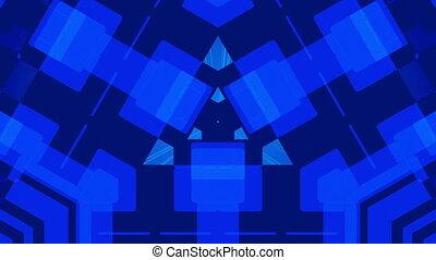 bleu sombre, résumé, fond, boucle