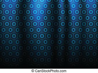 bleu sombre, résumé, sort, cercle