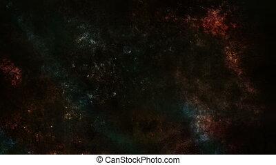 bleu sombre, rouges, faire boucle, sale, animé, fond, horreur, grunge, particule, orange