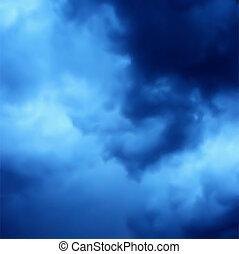 bleu, sombre, vecteur, fond, sky.