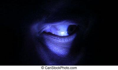 bleu, spooky, oeil