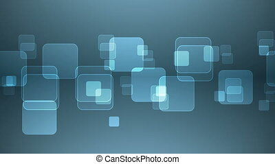 bleu, squares., chevaucher