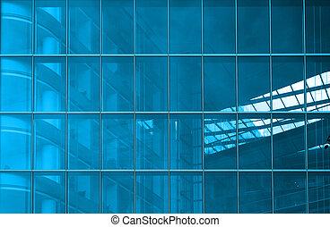 bleu, structural, glacer