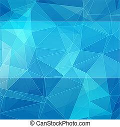 bleu, style, résumé, triangulaire, fond