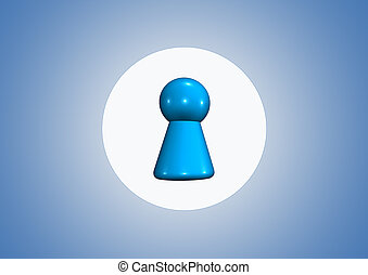 bleu, symbole, fond, équipe