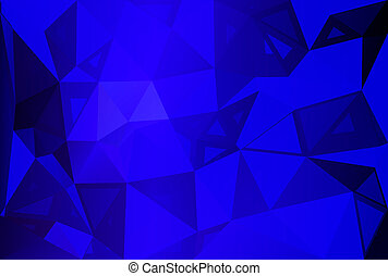 bleu, tailles, aléatoire, poly, sombre, bas, fond