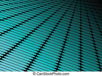 bleu, techno, néon, perspective, plancher