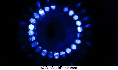 bleu, technologie pointe, forme onde