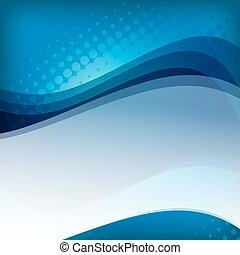 bleu, texte, résumé, fond, espace