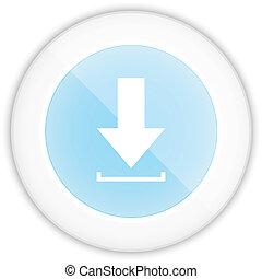 bleu, toile, ico, lustré, téléchargement, cercle