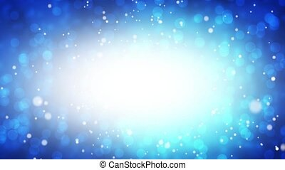bleu, tomber, neige