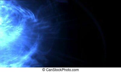 bleu, tourbillon, nébuleuse, laser, énergie