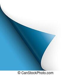 bleu, tourner, fond, sur, /, papier, page, gauche