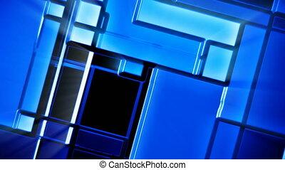 bleu, tuiles, brillant, mosaïque, fond