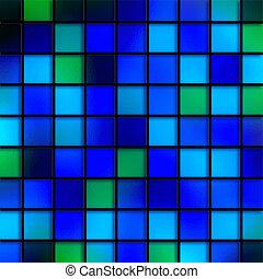 bleu, tuiles, eau