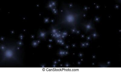 bleu, univers, voler, particules