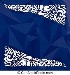 bleu, vecteur, noël carte