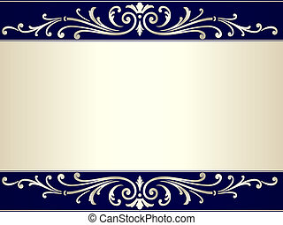 bleu, vendange, rouleau, arrière-plan beige, argent