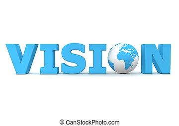 bleu, vision mondiale