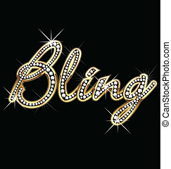 bling, vecteur, mot