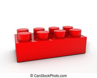 bloc, rouges, lego