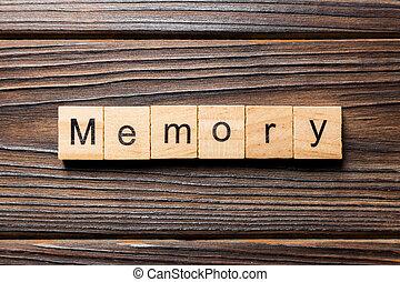 block., table, écrit, bois, mot, concept, texte, mémoire