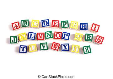blocs, alphabet