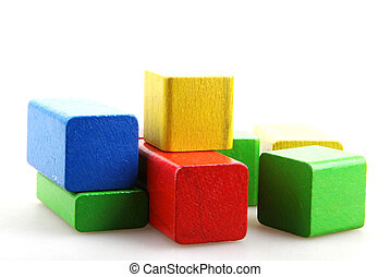 blocs bois, bâtiment
