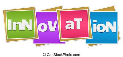 blocs, coloré, innovation