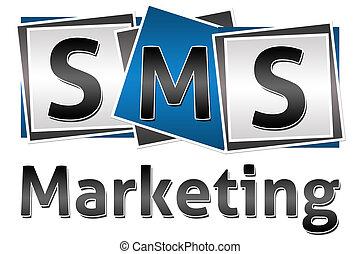 blocs, commercialisation, trois, sms
