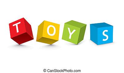 blocs jouet, illustration