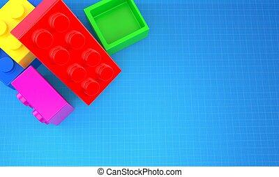 blocs, jouet