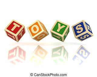 blocs, jouets, bois