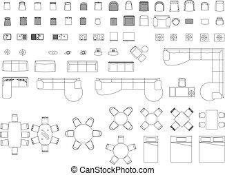 blocs, meubles