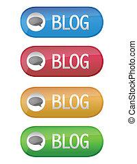 blog, bouton