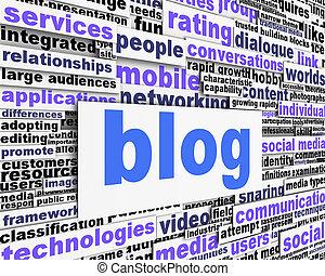 blog, conceptuel, message, conception