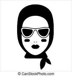blogger, mode, icône