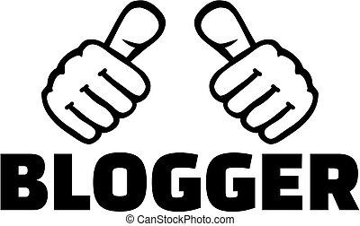 blogger, mot, pouces