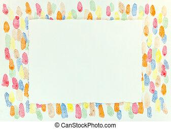 blots, feuille, sur, déchiré, bords, clair, papier, artistique, peinture, vide